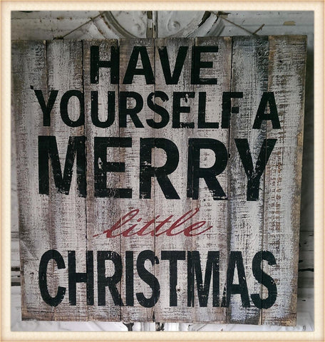 Merry Christmas Plaque - Seasonal-Holiday