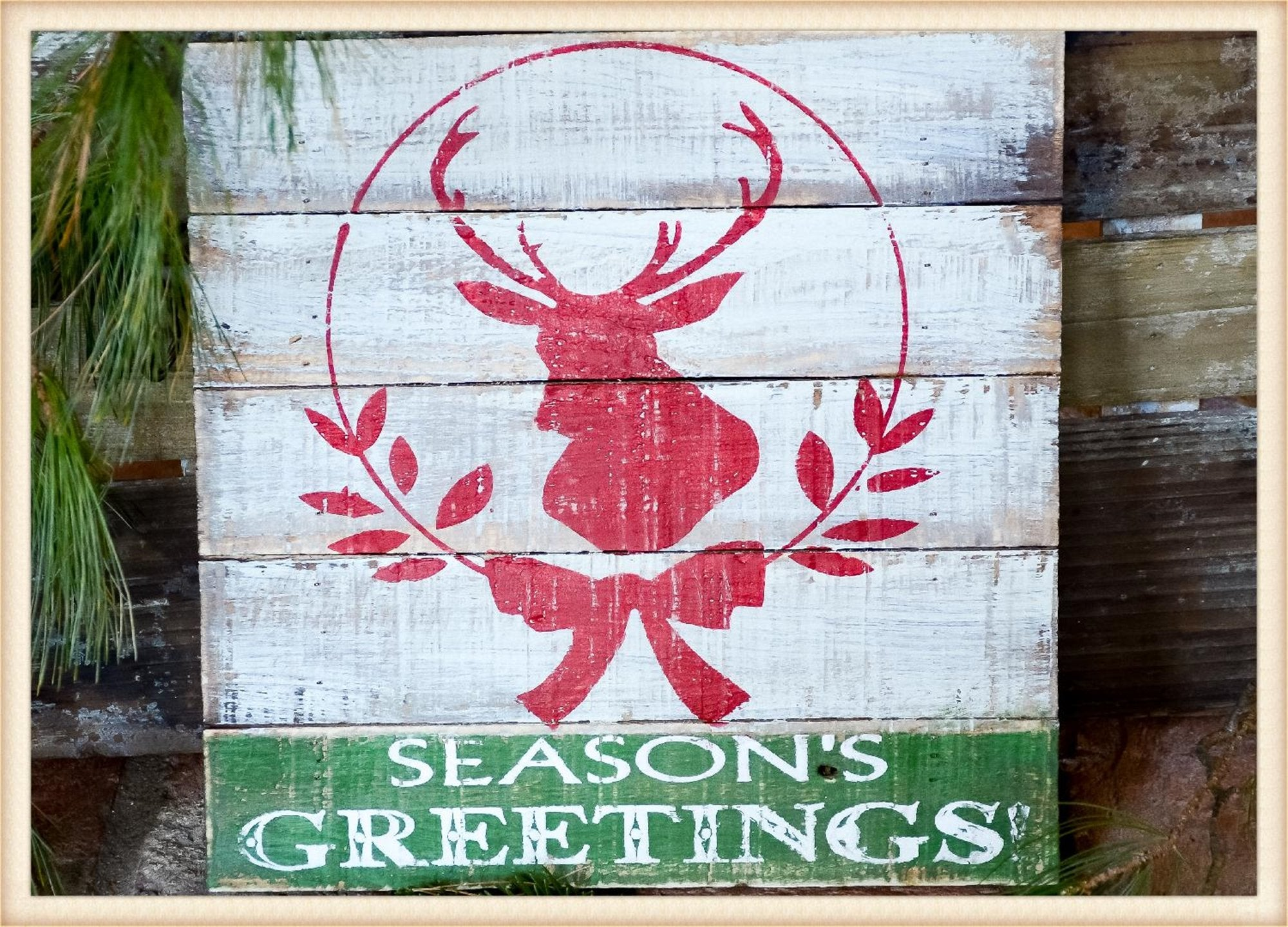 Seasons Greetings Plaque - Seasonal-Holiday