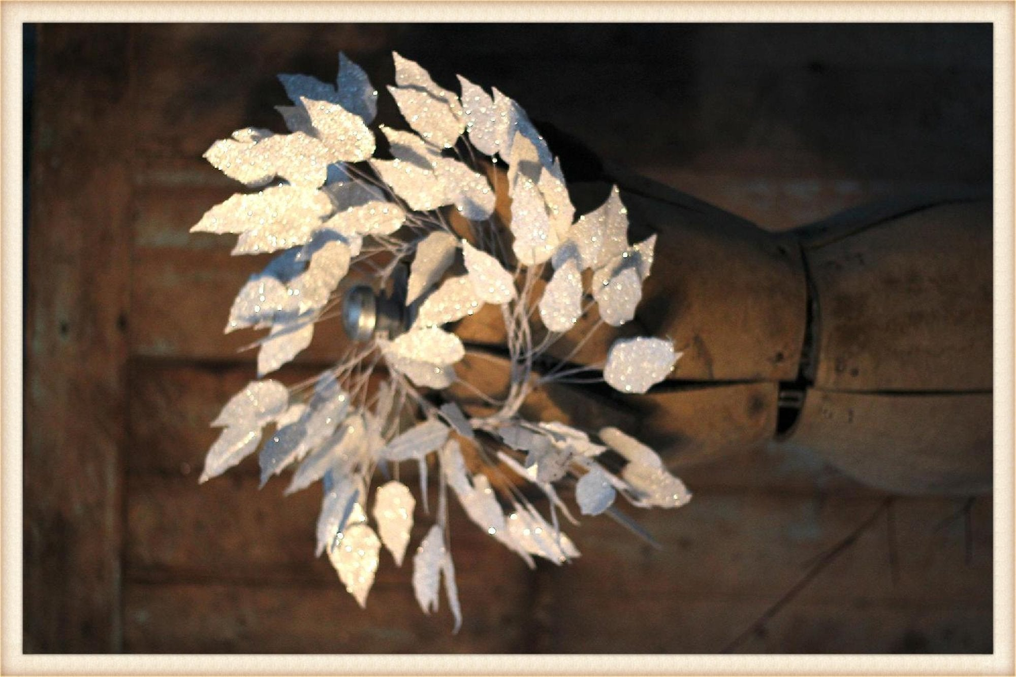 White Leaf Paper Wreath