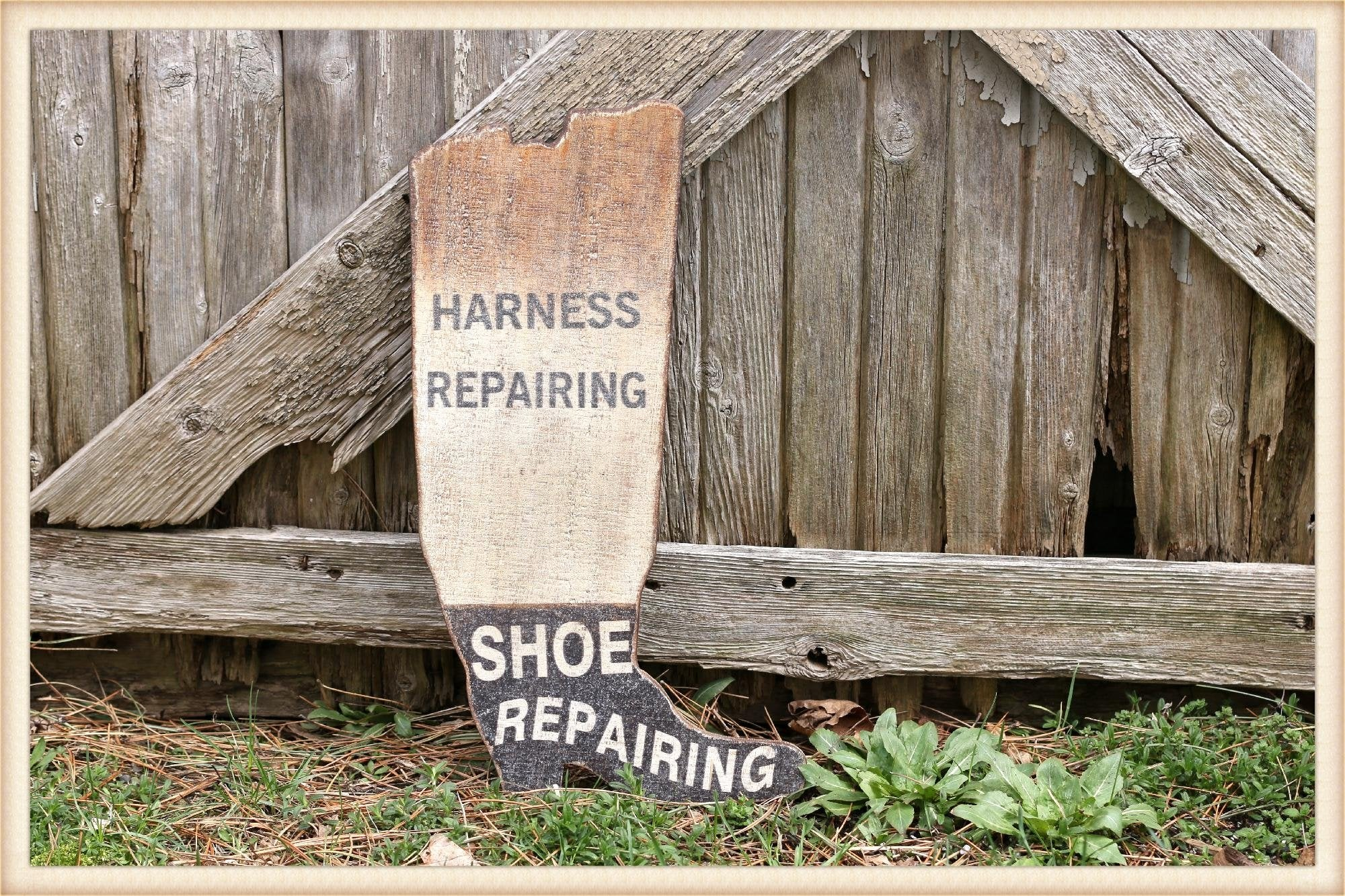 Harness Repair Sign
