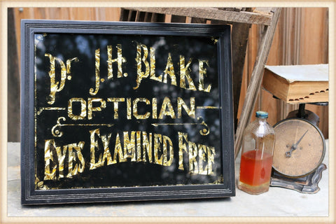 Glass Optician Sign