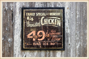 Broasted Chicken Sign