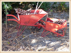 Red Wheelbarrow Small - Seasonal-Holiday