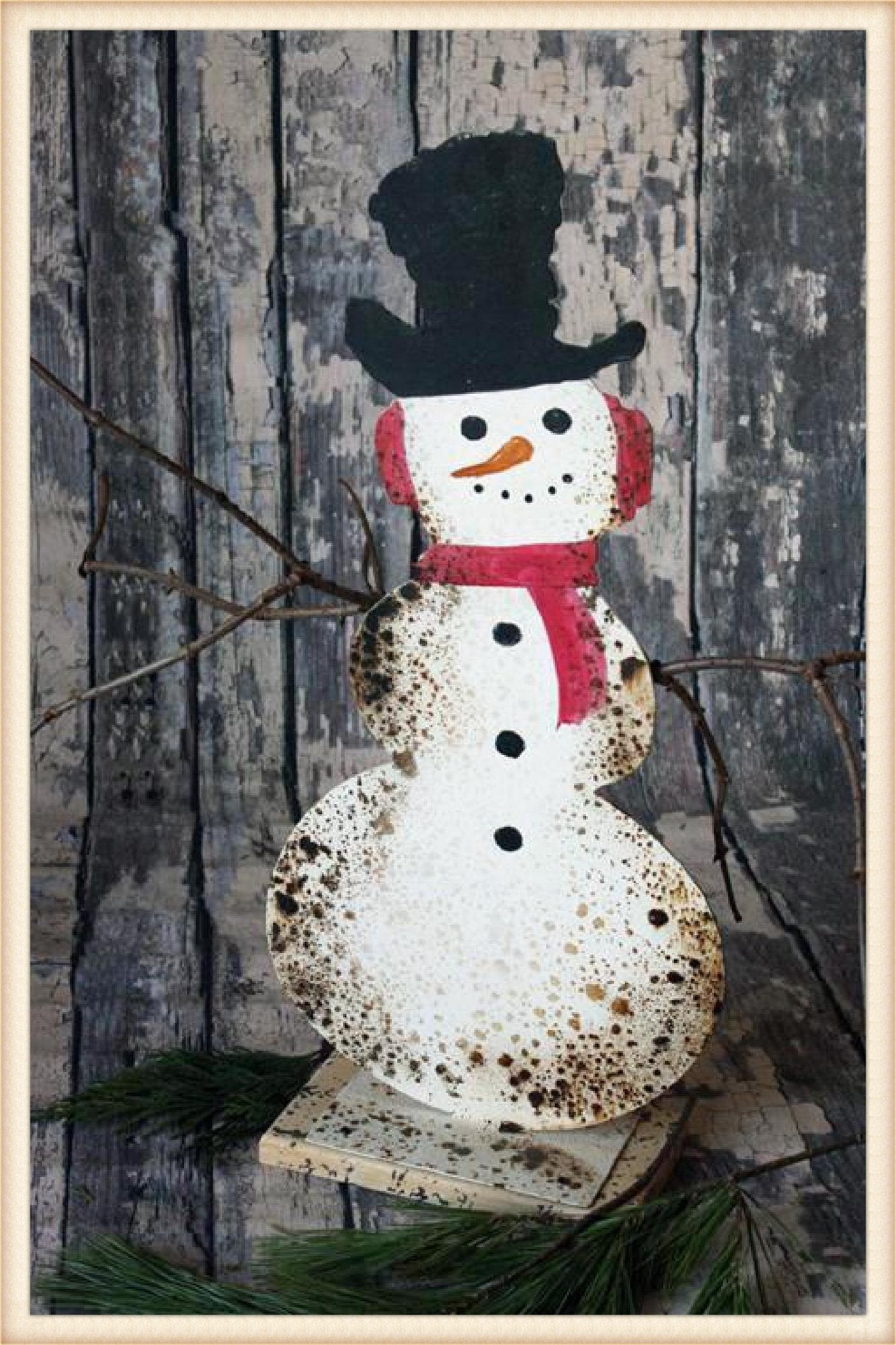 Tabletop Snowman - Seasonal-Holiday