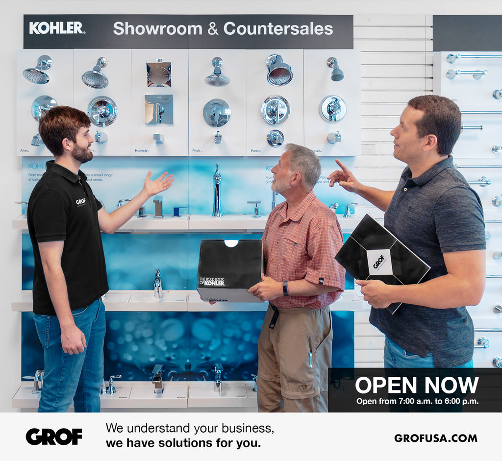 Trade professionals rely on GROF's