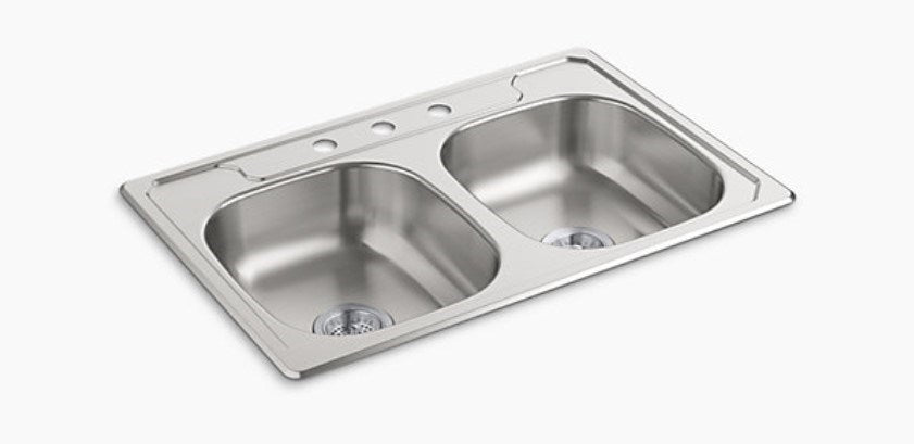 MIDDLETON® 33x22x6 DBL BASIN SINK