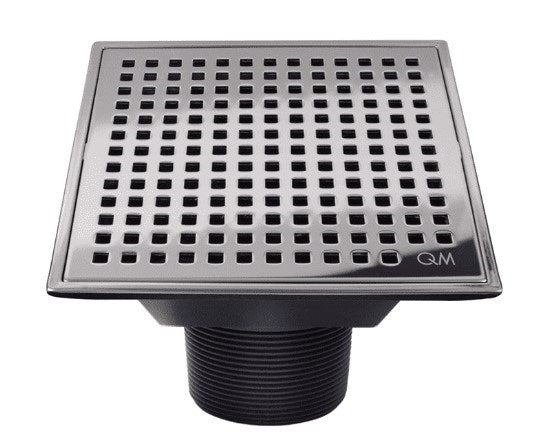 "Lagos Series, Mira point center drain, 4""x4"" Satin finish"