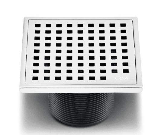 "Lagos Series, Mira point center drain, 4""x4"" Polish finish"