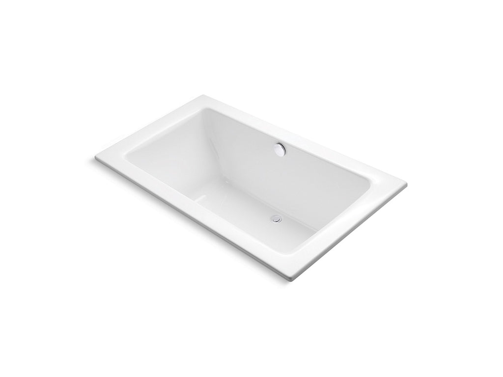 Perfect Large Rectangular Drop-In Bath | STUCCO WHITE | Kallista | GROF USA