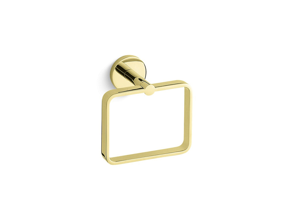 One Towel Ring | UNLACQUERED BRASS | Kallista | GROF USA