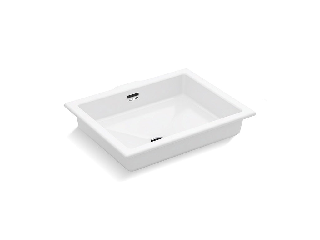 Perfect Um Basin, Centric Rectangle Glzd | STUCCO WHITE | Kallista | GROF USA