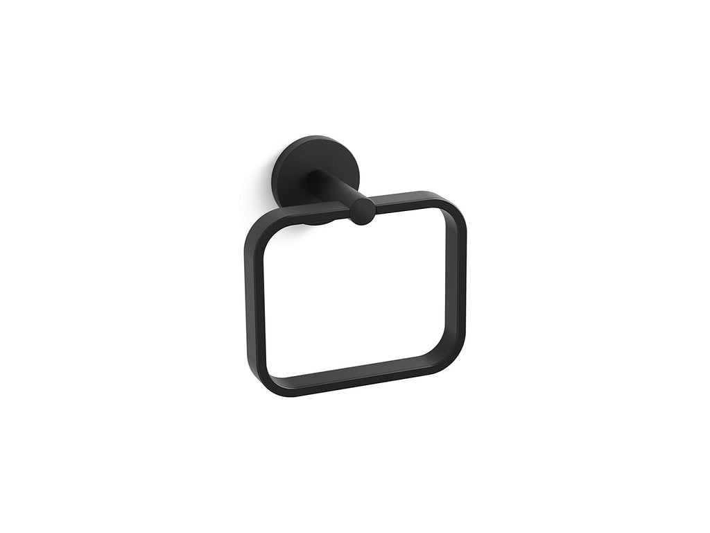 One Towel Ring | MATTE BLACK | Kallista | GROF USA