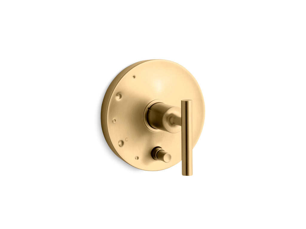 Valve Trim | Purist | Vibrant Moderne Brushed Gold | GROF USA