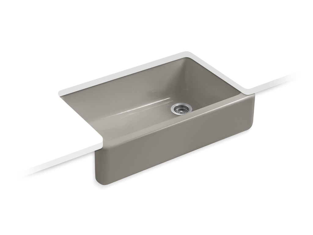 Kitchen Sink | Whitehaven(R) Self-Trimming(R) Apron Front Single Basin Sink with Tall Apron | Cashmere | GROF USA