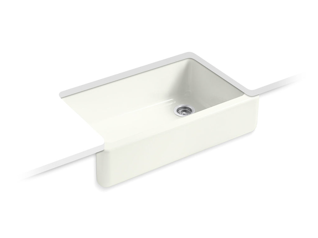 Kitchen Sink | Whitehaven(R) Self-Trimming(R) Apron Front Single Basin Sink with Tall Apron | Dune | GROF USA
