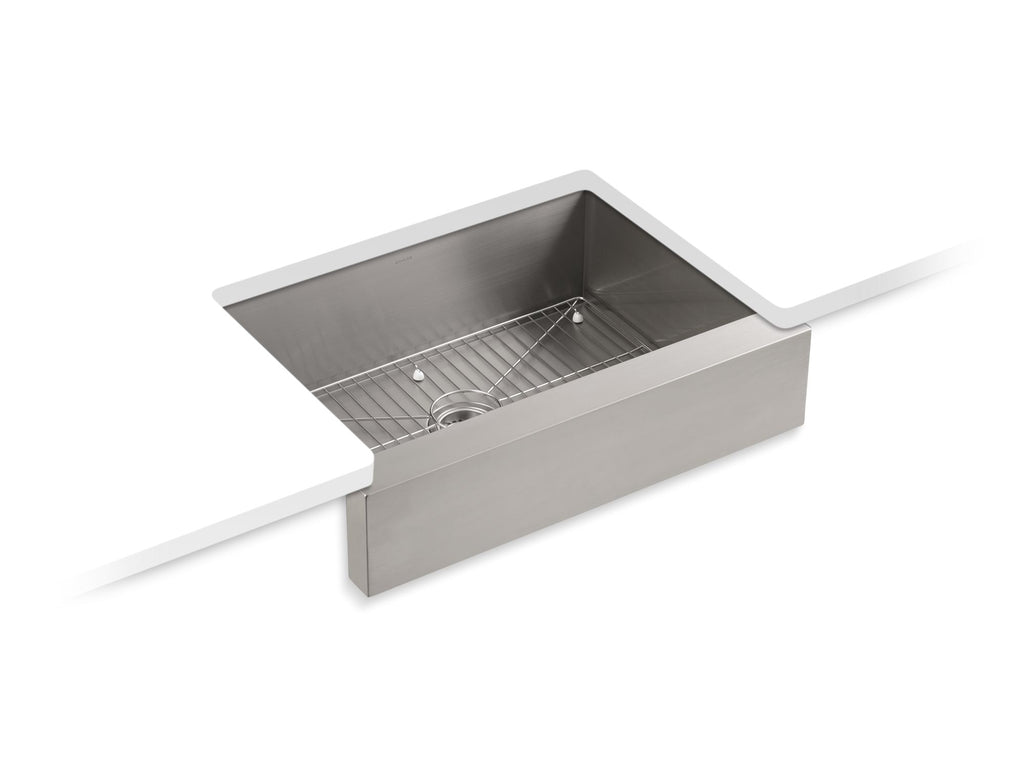 "Kitchen Sink | Vault Apron-Front, Single-Basin, Undermount 30"" Kitchen Sink 
