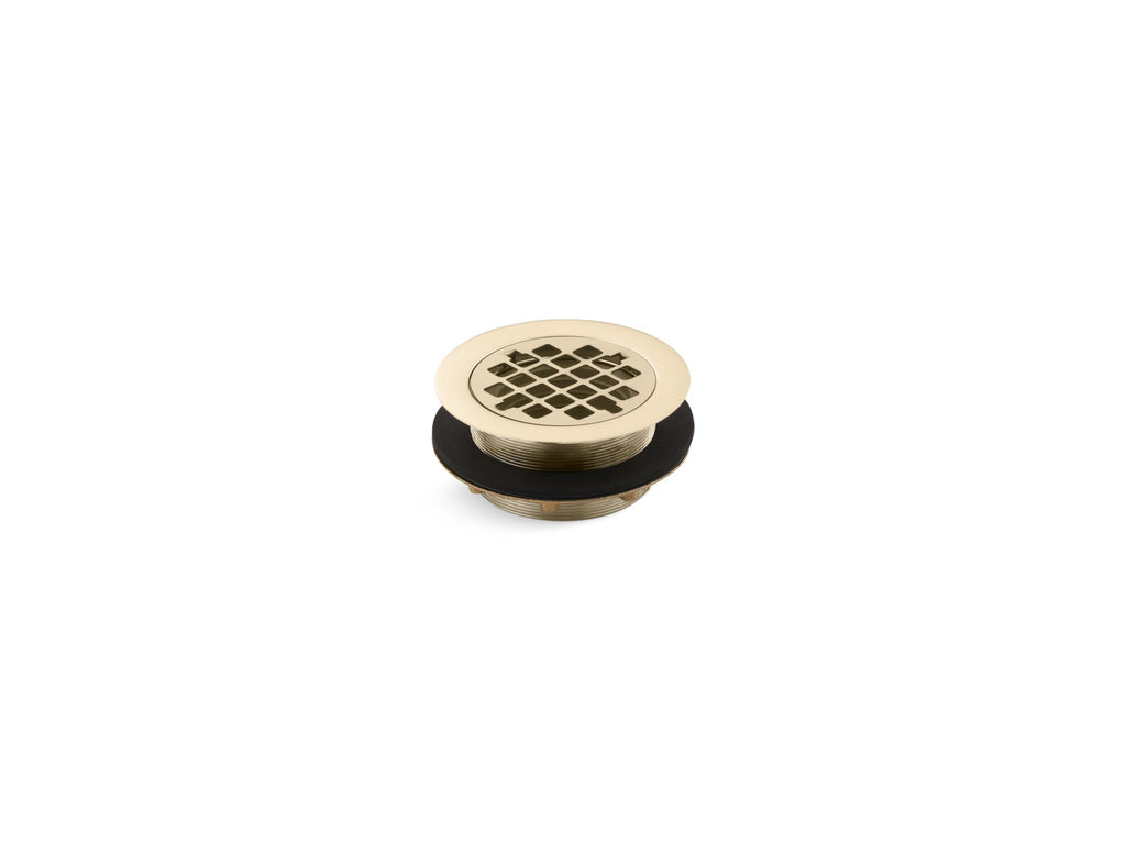 Shower Drains | SHOWER DRAIN W/GRID STRAINER | Vibrant French Gold | GROF USA