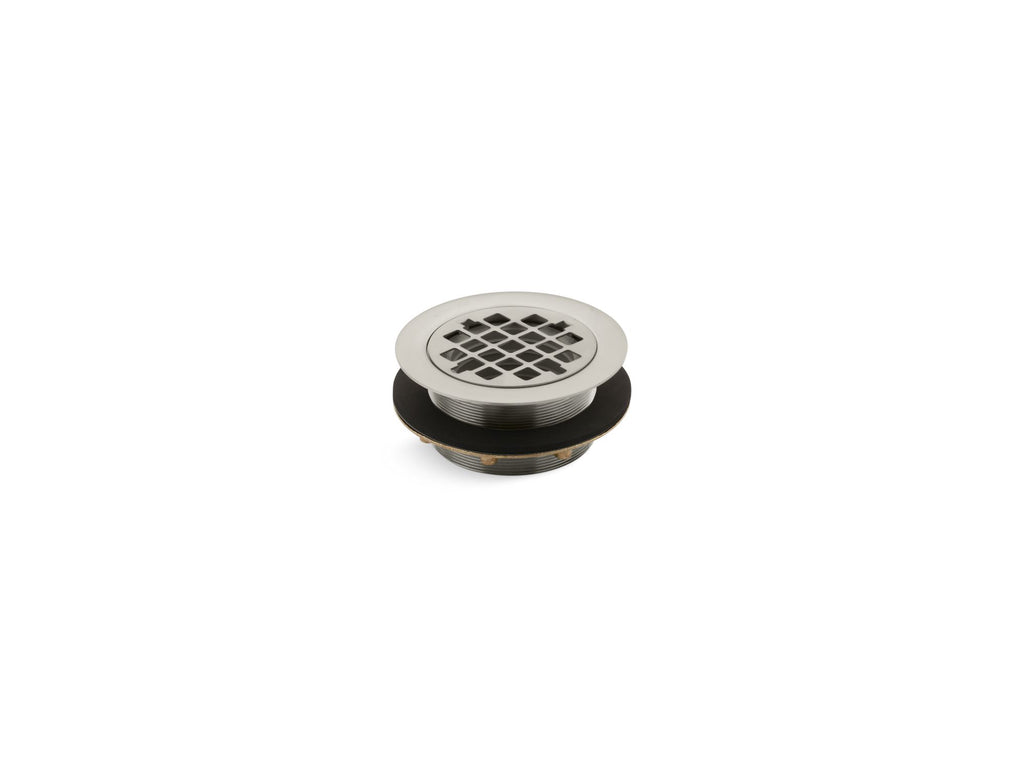 Shower Drains | SHOWER DRAIN W/GRID STRAINER | Vibrant Brushed Nickel | GROF USA