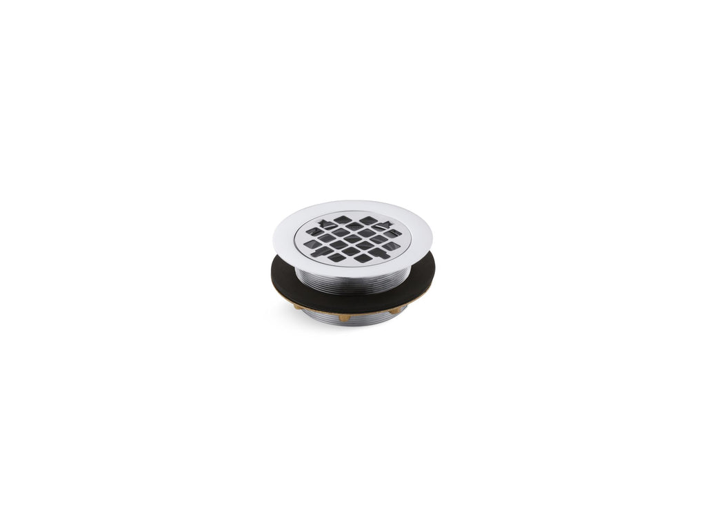 Shower Drains | SHOWER DRAIN W/GRID STRAINER | Polished Chrome | GROF USA