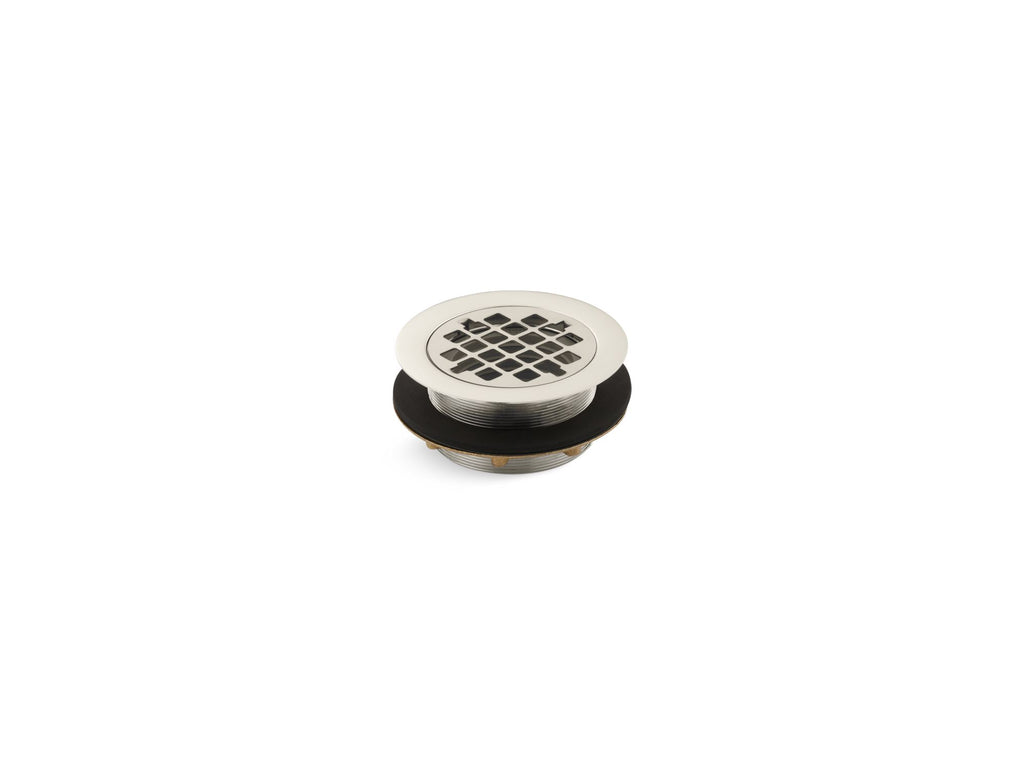 Shower Drains | SHOWER DRAIN W/GRID STRAINER | Vibrant Polished Nickel | GROF USA