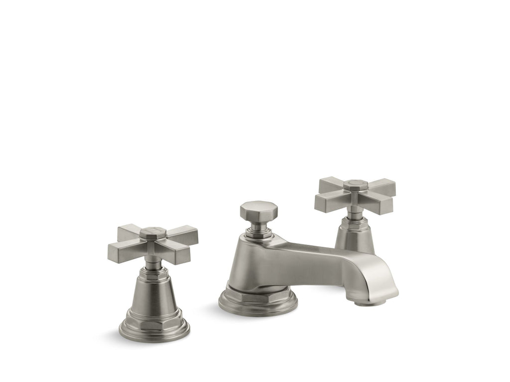 Bathroom Faucet | Pinstripe | Vibrant Brushed Nickel | GROF USA