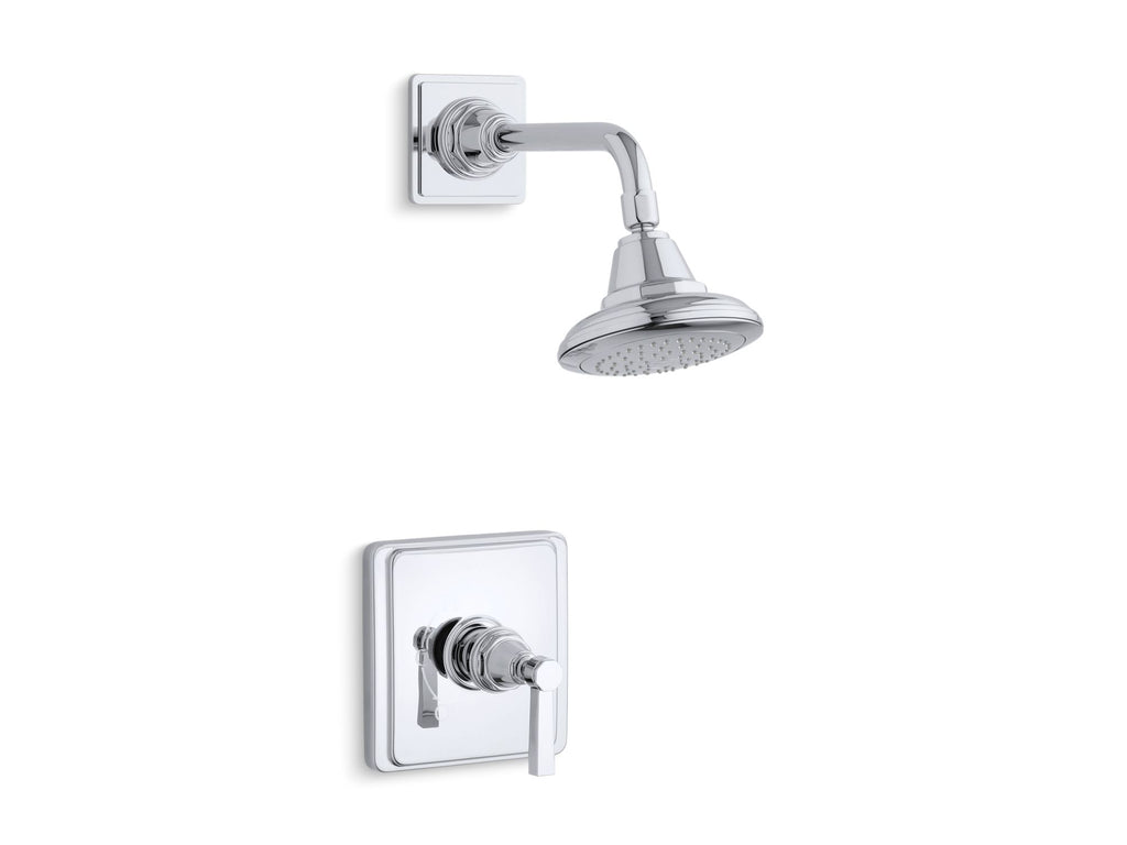 Shower Faucet Trim | Pinstripe | Polished Chrome | GROF USA