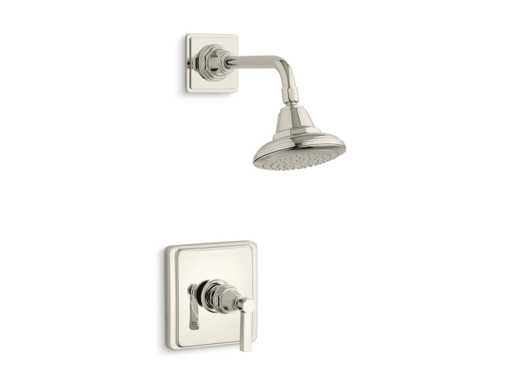 Shower Faucet Trim | Pinstripe | Vibrant Polished Nickel | GROF USA