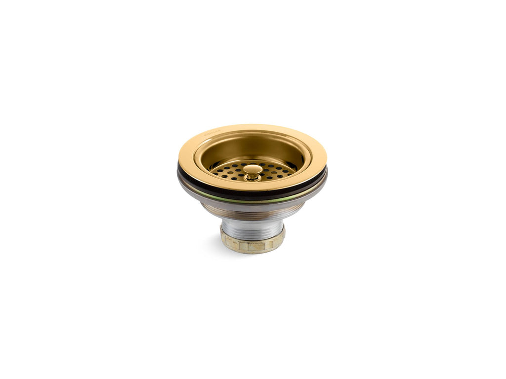 Sink Strainer | Duostrainer | Vibrant Polished Brass | GROF USA