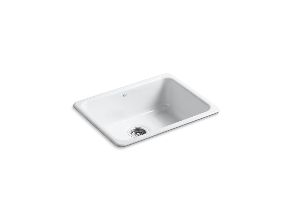 Kitchen Sink | Iron/Tones Undercounter/Self Rimming Rectangle Sink | White | GROF USA