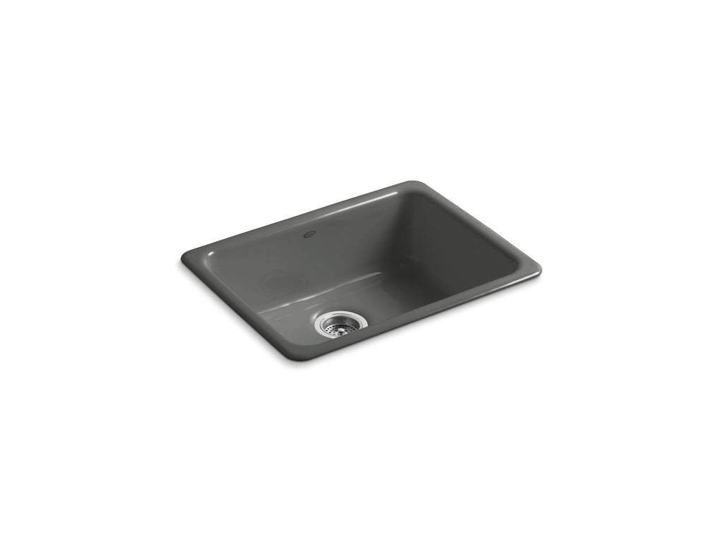 Kitchen Sink | Iron/Tones Undercounter/Self Rimming Rectangle Sink | Thunder Grey | GROF USA