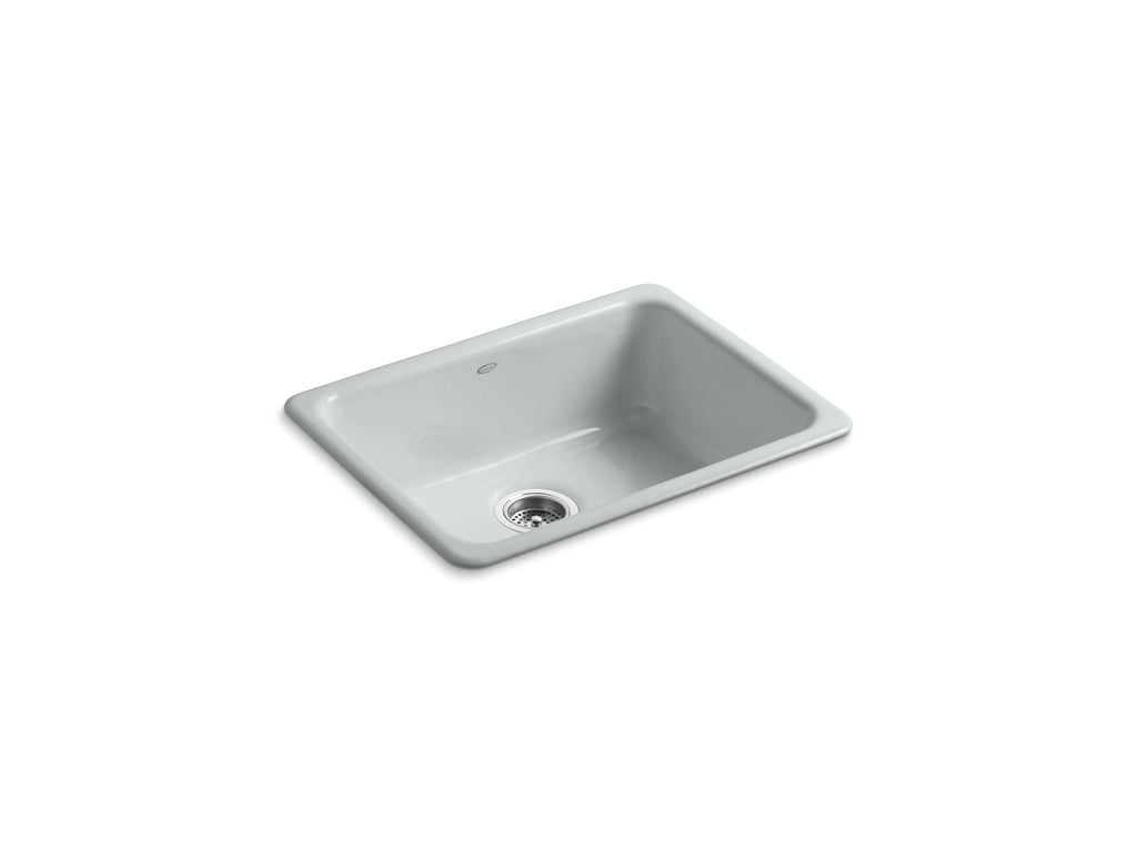 Kitchen Sink | Iron/Tones Undercounter/Self Rimming Rectangle Sink | Ice Grey | GROF USA