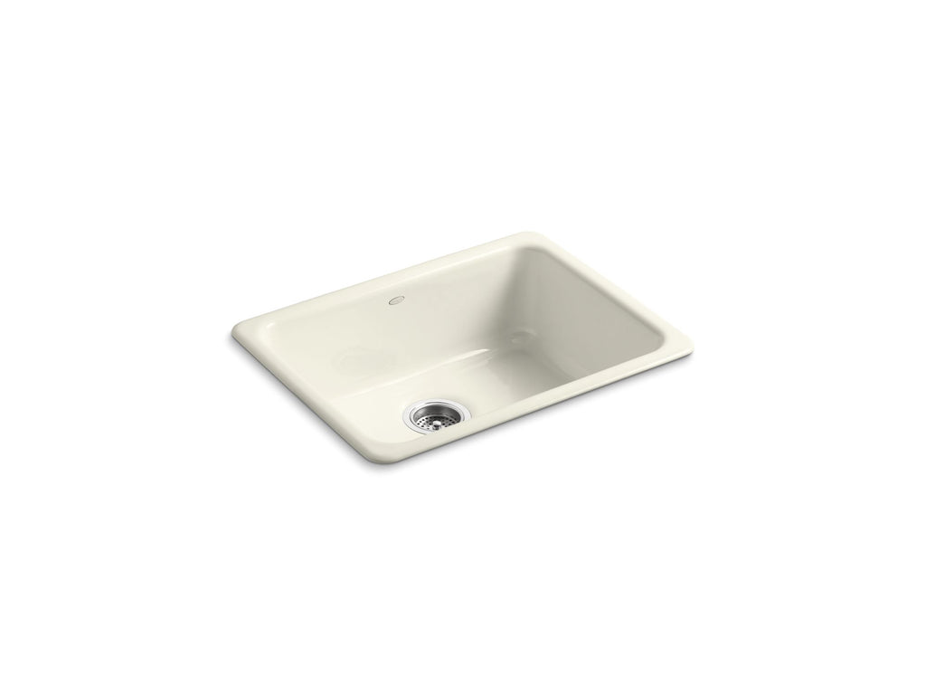 Kitchen Sink | Iron/Tones Undercounter/Self Rimming Rectangle Sink | Biscuit | GROF USA