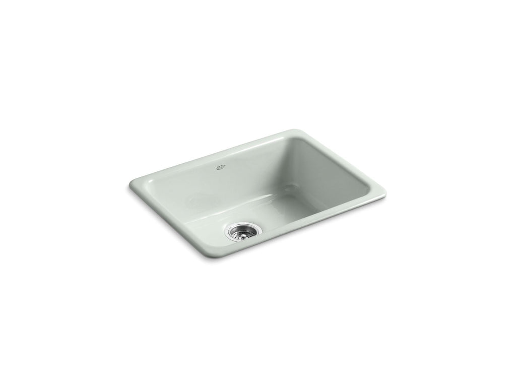 Kitchen Sink | Iron/Tones Undercounter/Self Rimming Rectangle Sink | Sea Salt | GROF USA