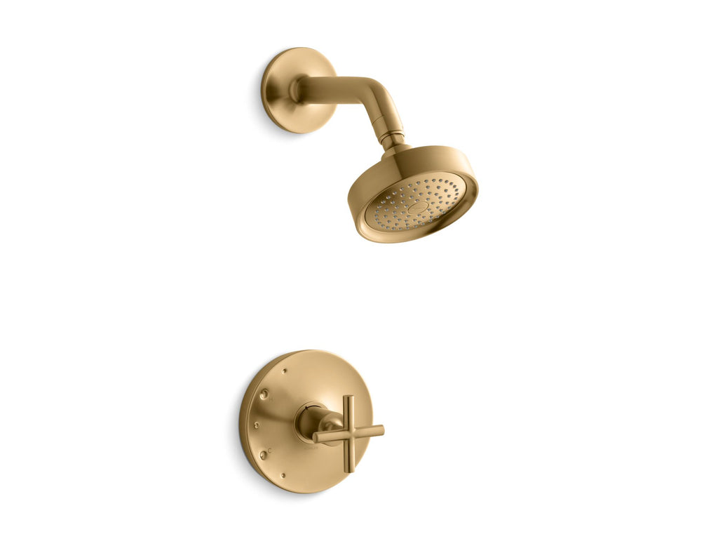 Shower Faucet Trim | Purist | Vibrant Moderne Brushed Gold | GROF USA