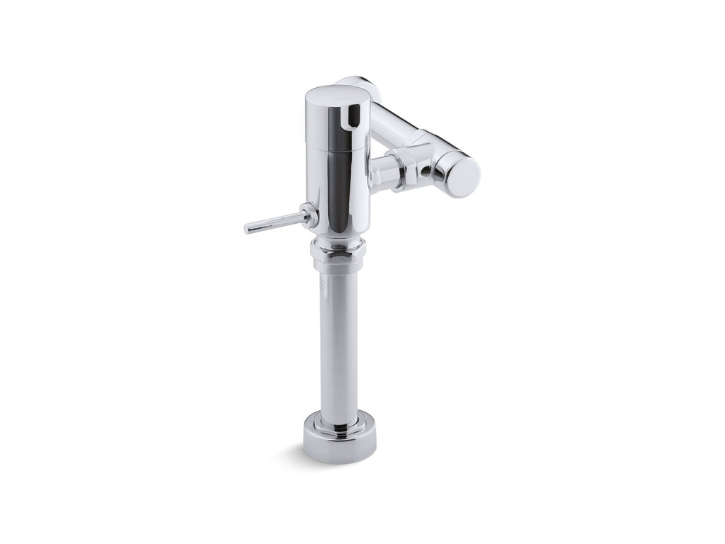 Flushometer | MANUAL TOILET FLUSH VALVE 1.6GPF | Polished Chrome | GROF USA