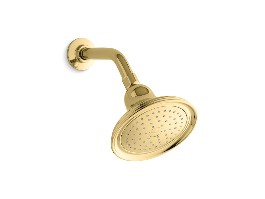 Showerhead | Devonshire | Vibrant Polished Brass | GROF USA
