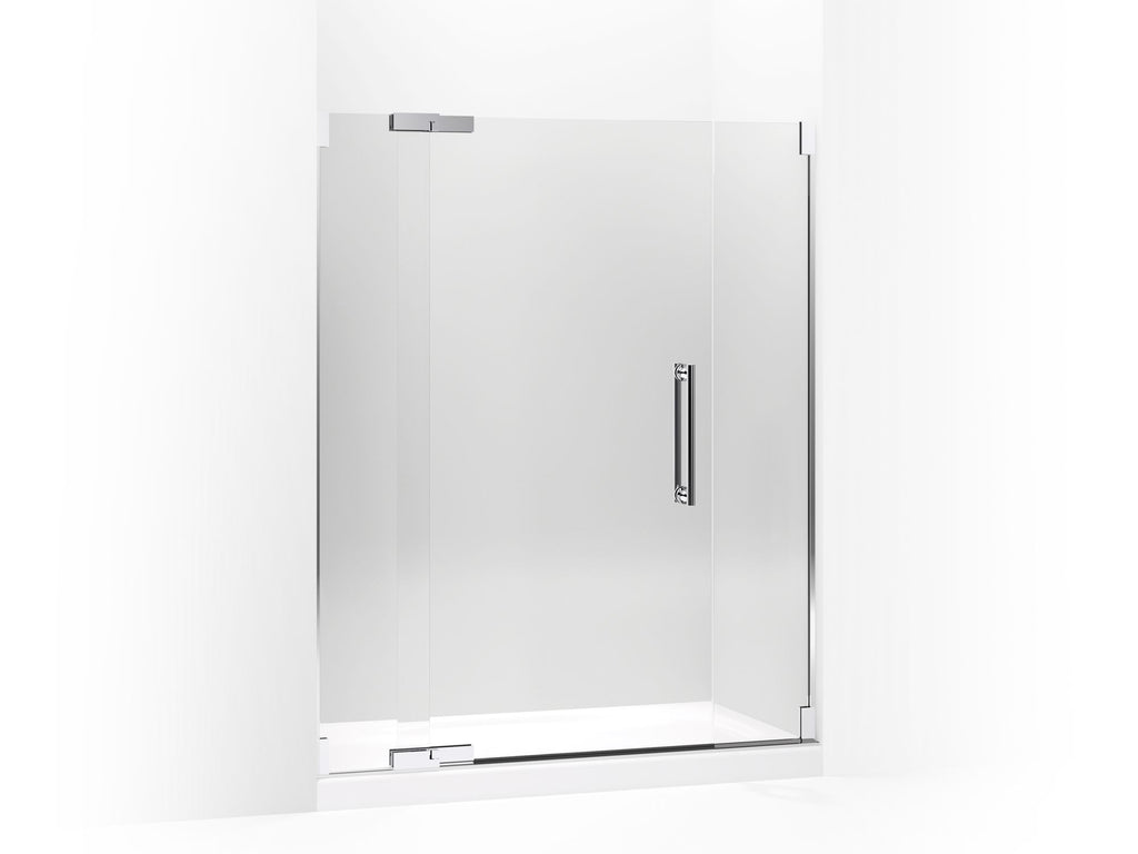 Shower Door | Purist | Bright Polished Silver | GROF USA