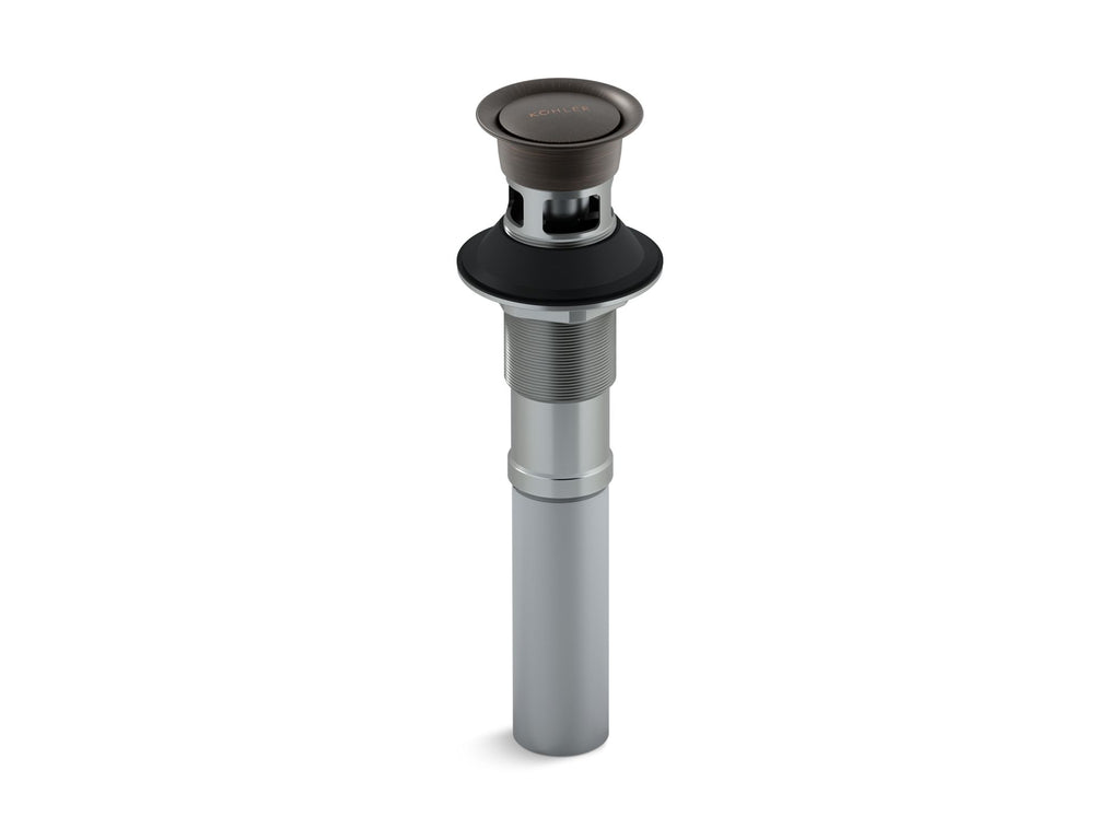 Drain | CLICKER DRAIN WITH OVERFLOW | Oil-Rubbed Bronze | GROF USA