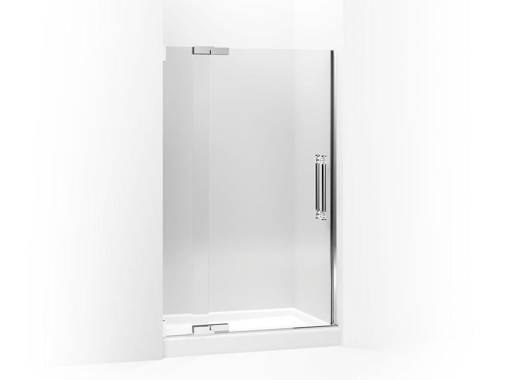 Shower Door | Pinstripe | Bright Polished Silver | GROF USA