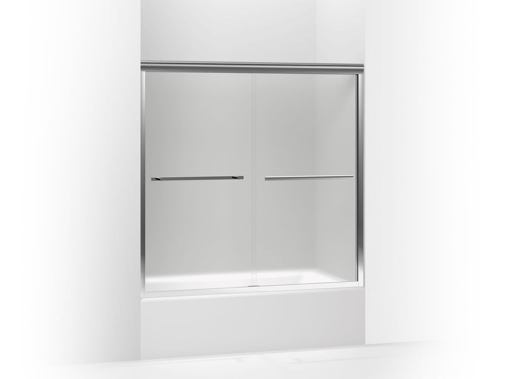 Bath & Shower Door | Gradient | Bright Polished Silver | GROF USA