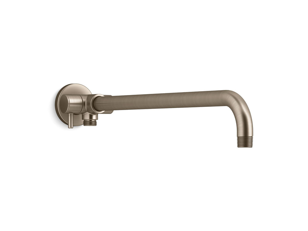 Shower arm | WALL MOUNT RAINHEAD ARM W/ 2WAY DIVERTER | Vibrant Brushed Bronze | GROF USA