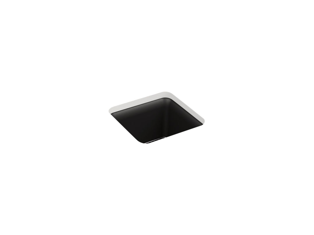 "Entertainment Sink | Cairn 15"" x 15"" x 9-1/2"" Neoroc under-mount bar sink 