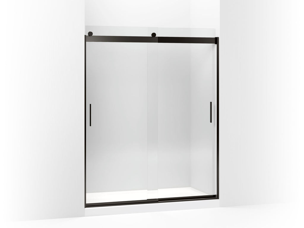 Shower Door | Levity | Crystal Clear glass with Anodized Dark Bronze frame | GROF USA