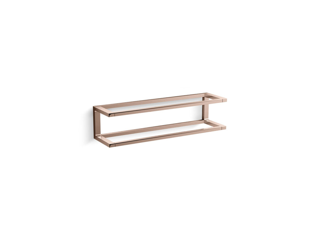 Towel Bar | Draft | Vibrant Rose Gold | GROF USA