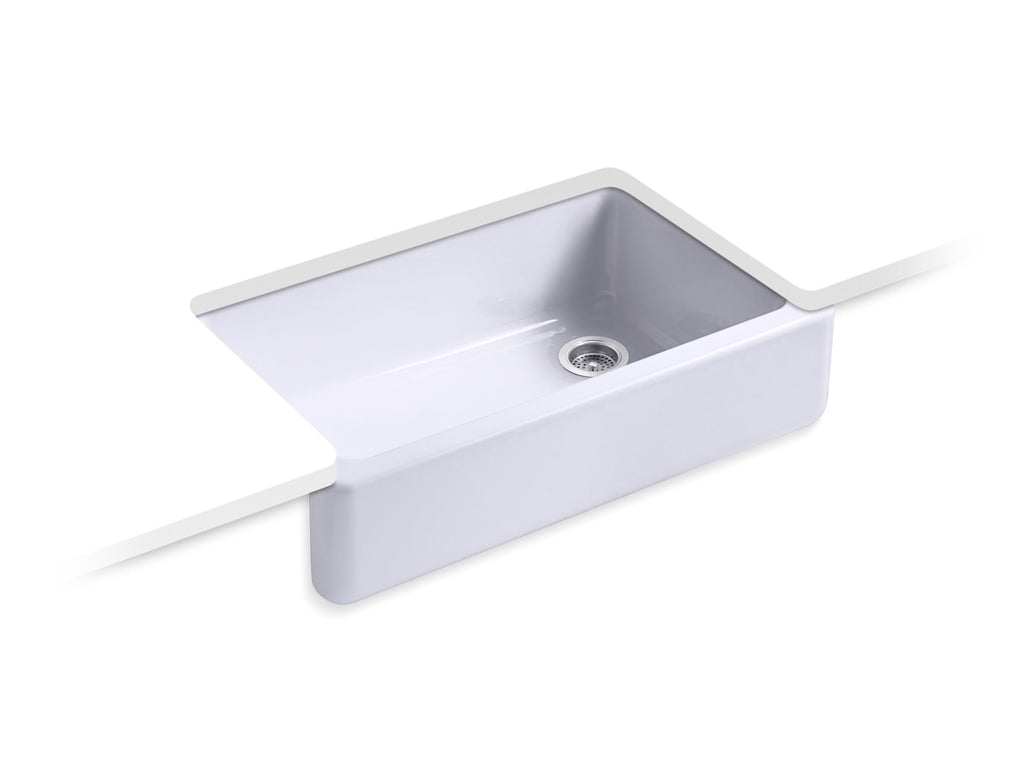 Kitchen Sink | Whitehaven(R) Self-Trimming(R) Apron Front Single Basin Sink with Tall Apron | Lavender Grey | GROF USA