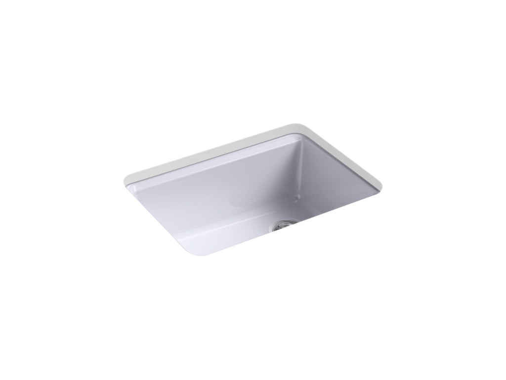 "Kitchen Sink | Riverby 27"" x 22"" x 9-5/8"" under-mount single-bowl kitchen sink with accessories and 5 oversized faucet holes 