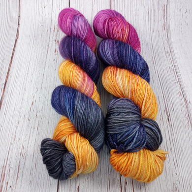 VKL September Show Colorway: Fall Sky Over Andi's House