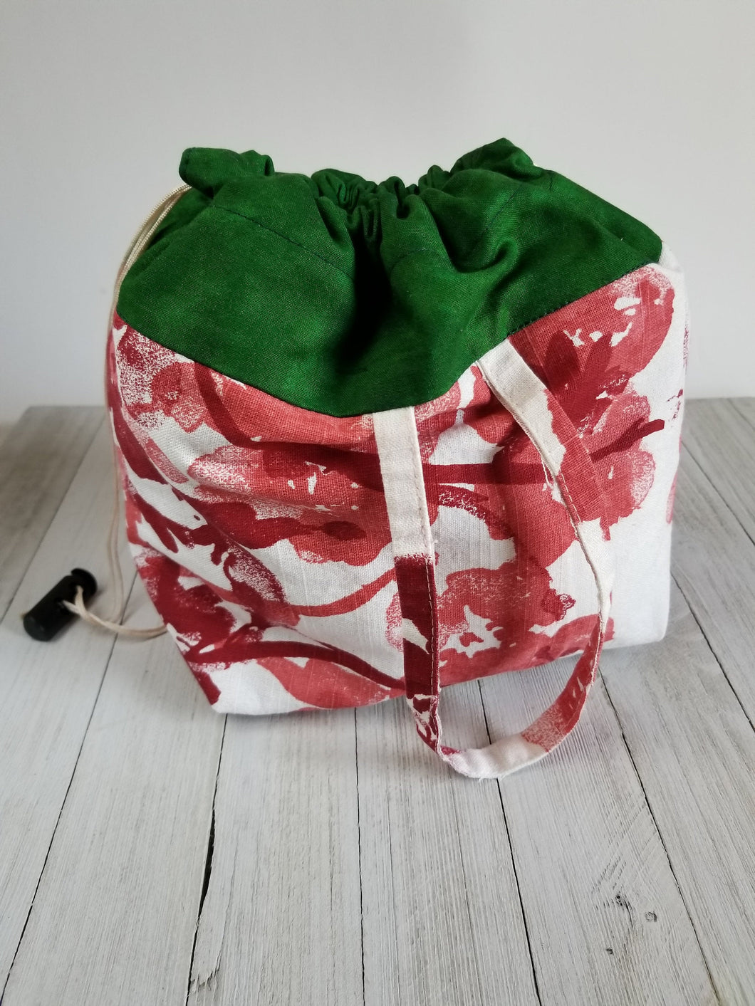Dk. Green & Rose Drawstring Project Bag (Lg)