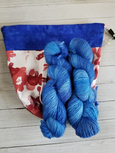 Blue & Rose Drawstring Project Bag (Lg)