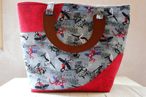 Spiderman Wooden Handled Tote